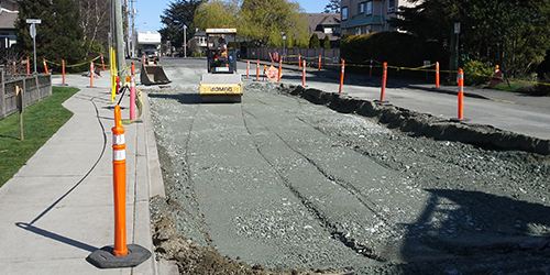 Second Street Construction